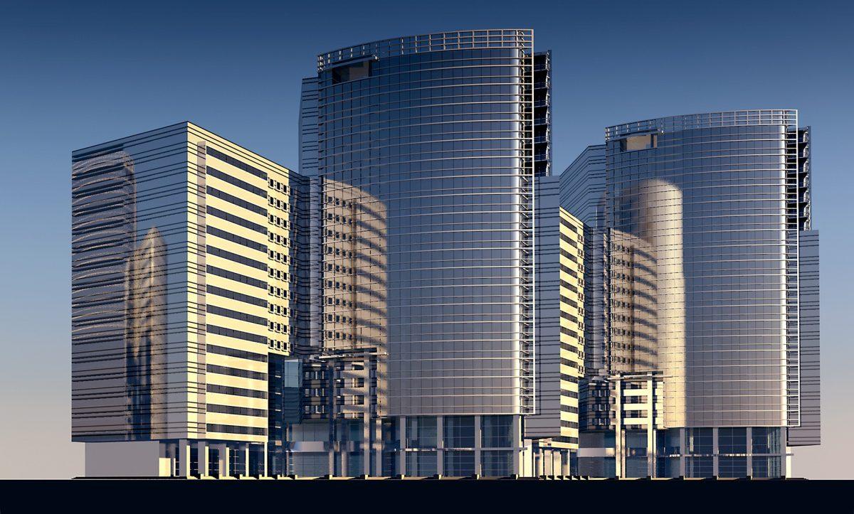 高層ビル群のイメージ